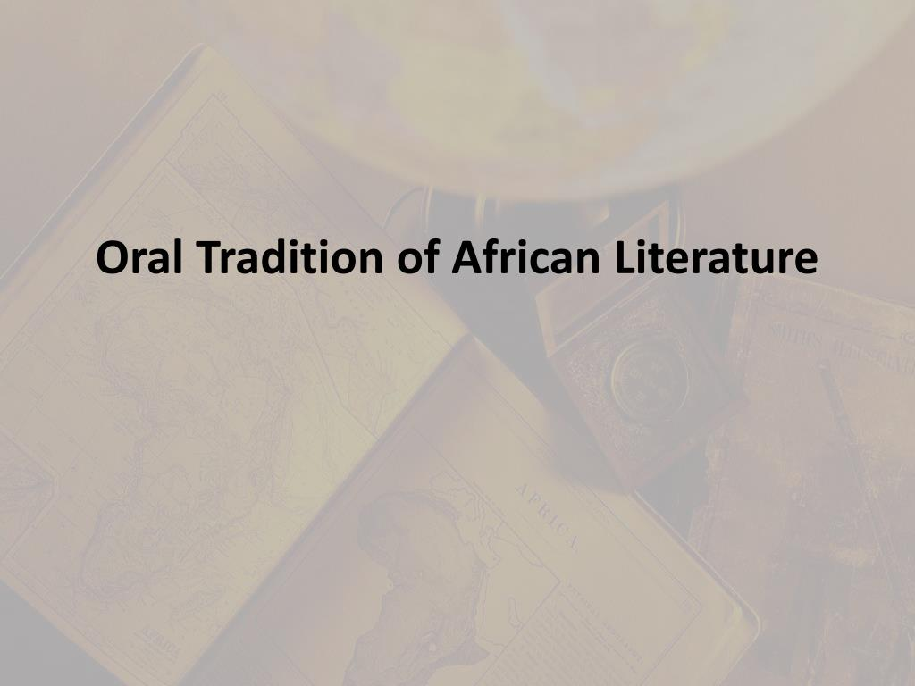 oral tradition of african literature l.