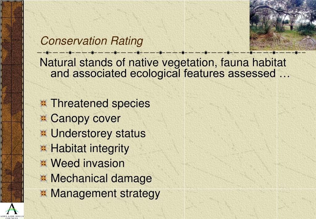 Conservation Rating