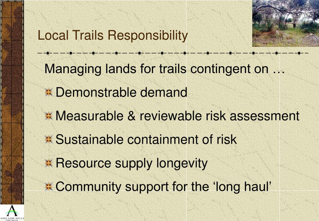 Local Trails Responsibility