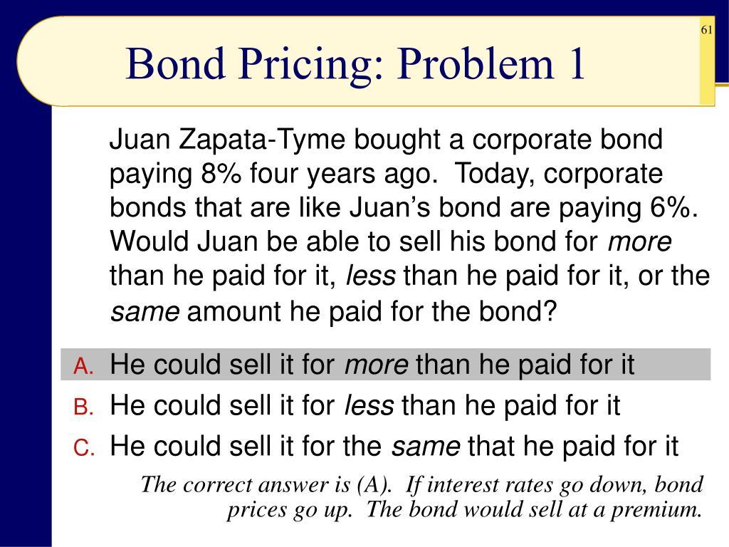 Bond Pricing: Problem 1