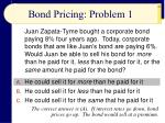 bond pricing problem 1