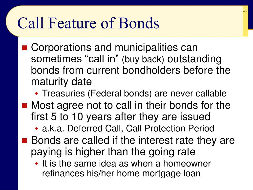 Call Feature of Bonds