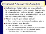 investment alternatives annuities29