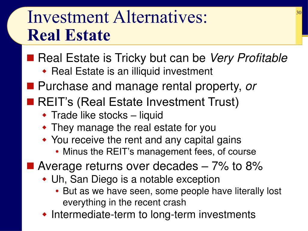 Investment Alternatives: