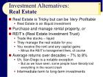 investment alternatives real estate