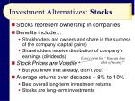 investment alternatives stocks