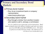 primary and secondary bond markets