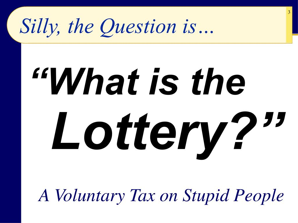 Silly, the Question is…