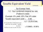 taxable equivalent yield56