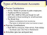 types of retirement accounts