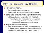 why do investors buy bonds