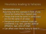 heuristics leading to fallacies11