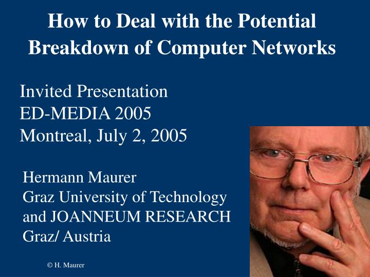 how to deal with the potential breakdown of computer networks n.