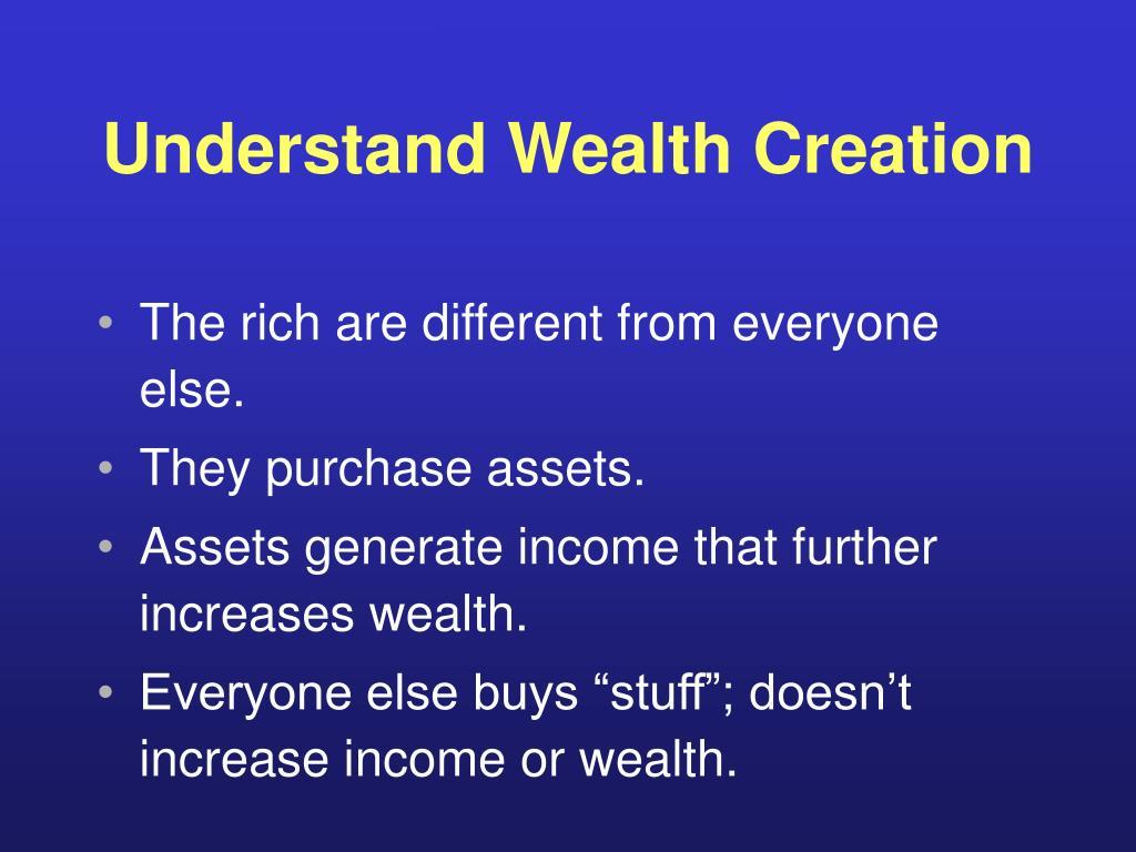 Understand Wealth Creation