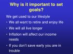 why is it important to set goals