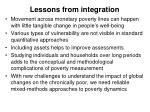 lessons from integration