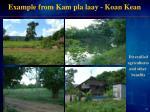 example from kam pla laay koan kean
