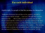 for each individual