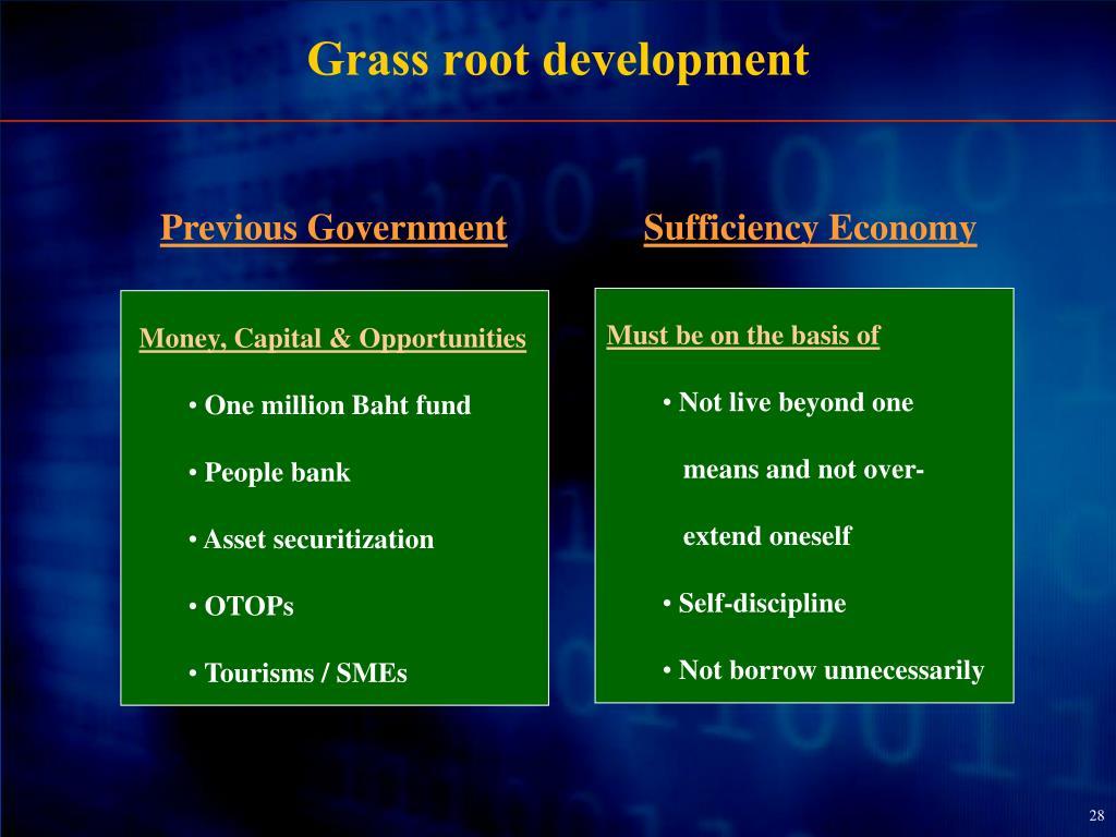 Grass root development