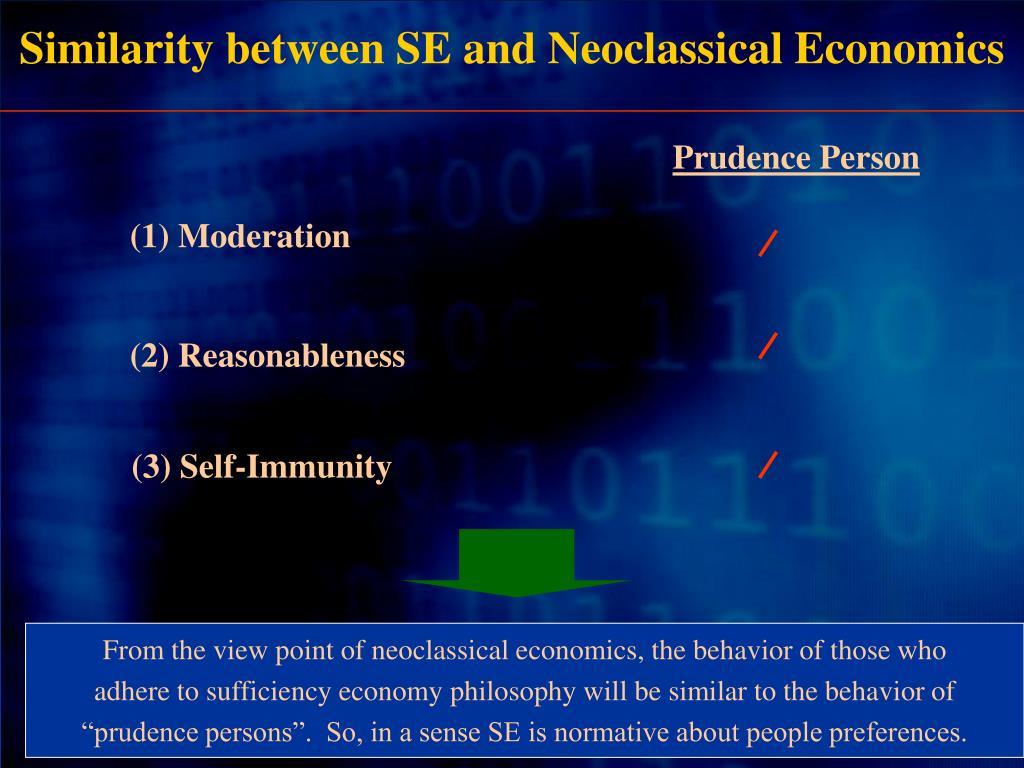 Similarity between SE and Neoclassical Economics