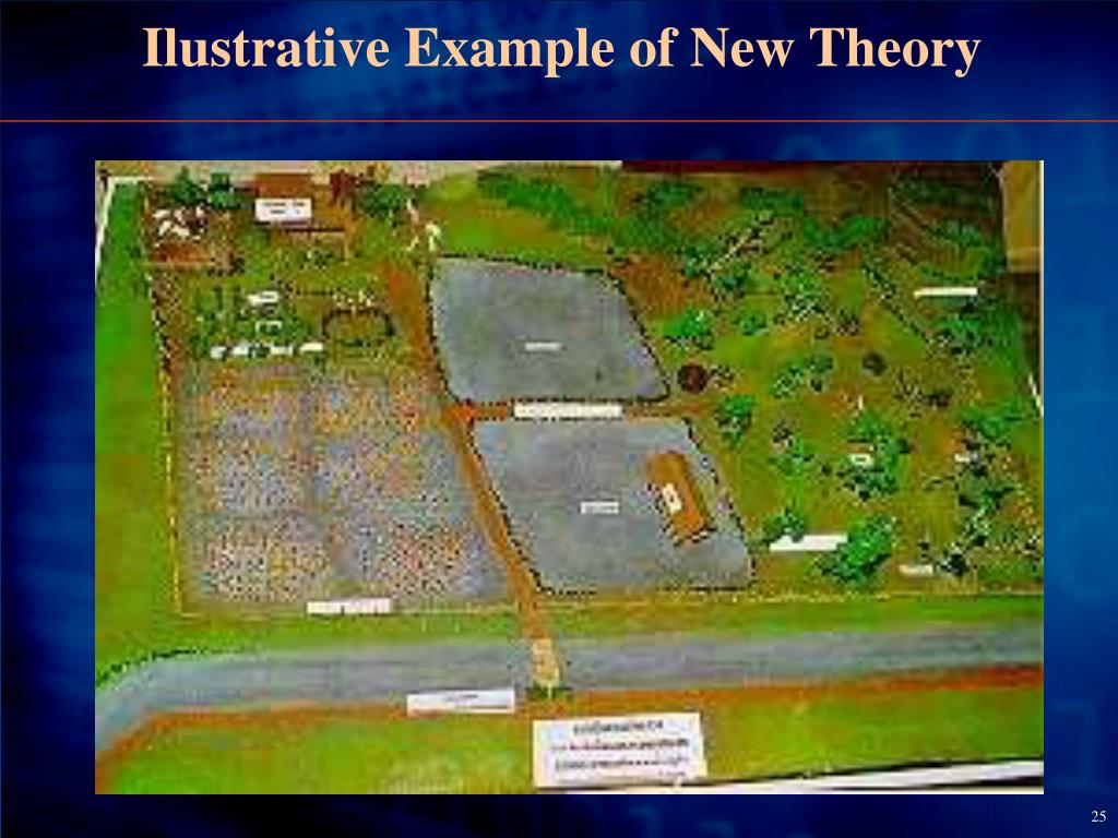 Ilustrative Example of New Theory