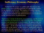 sufficiency economy philosophy