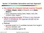 apriori a candidate generation and test approach