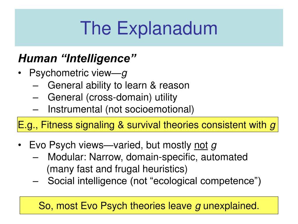 The Explanadum