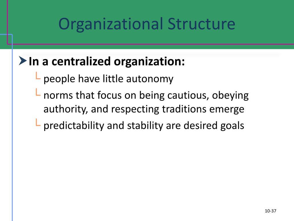 Organizational Structure