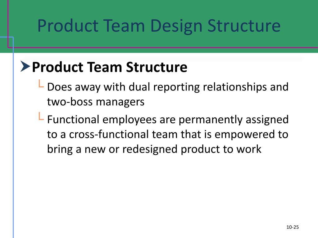 Product Team Design Structure