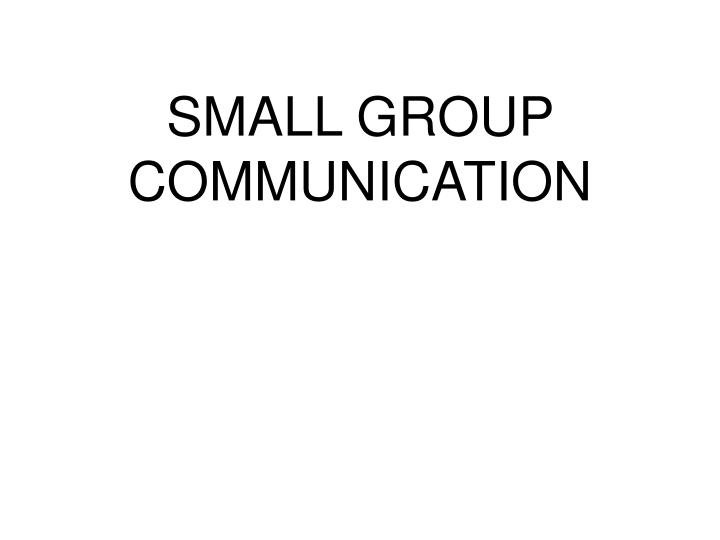 small group communication n.
