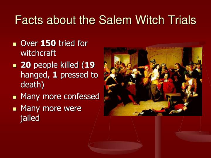 salem witch trials and crucible hypocrisy Salem witch trials in january of 1692, the daughter and niece of reverend samuel parris of salem village became ill in june of 1692, the special court of oyer (to hear) and terminer (to decide) sat in salem to hear the cases of witchcraft presided over by chief justice william stoughton, the court.