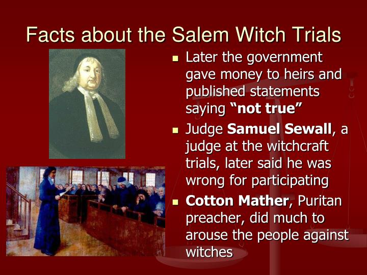 mccarthy and salem trials The crucible and mccarthy trials essaysthe crucible, essentially an allegory, uses the 1692 salem witchcraft trials to symbolize the 1950s anti-communist purges (bloom).