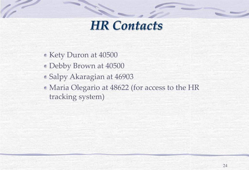 HR Contacts