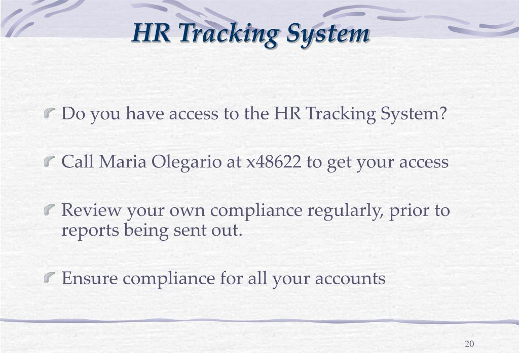 HR Tracking System