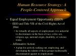 human resource strategy a people centered approach11