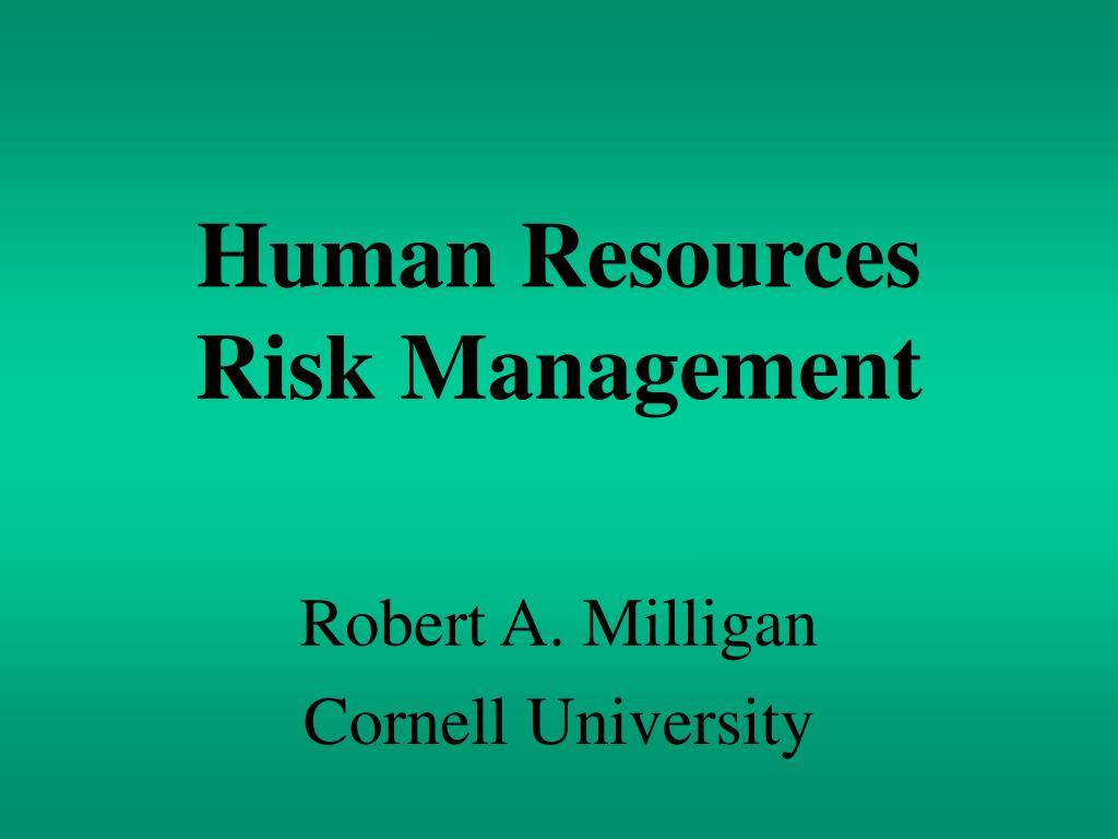 human resources risk management l.