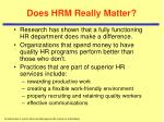 does hrm really matter