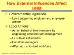 how external influences affect hrm11