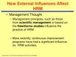 how external influences affect hrm12