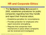 hr and corporate ethics30