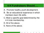 4 h fundraisers should
