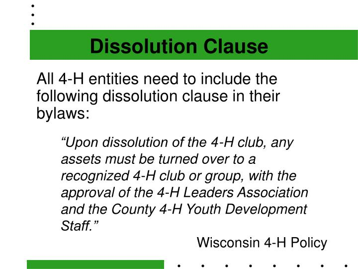 Dissolution Clause