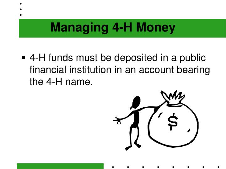 Managing 4-H Money