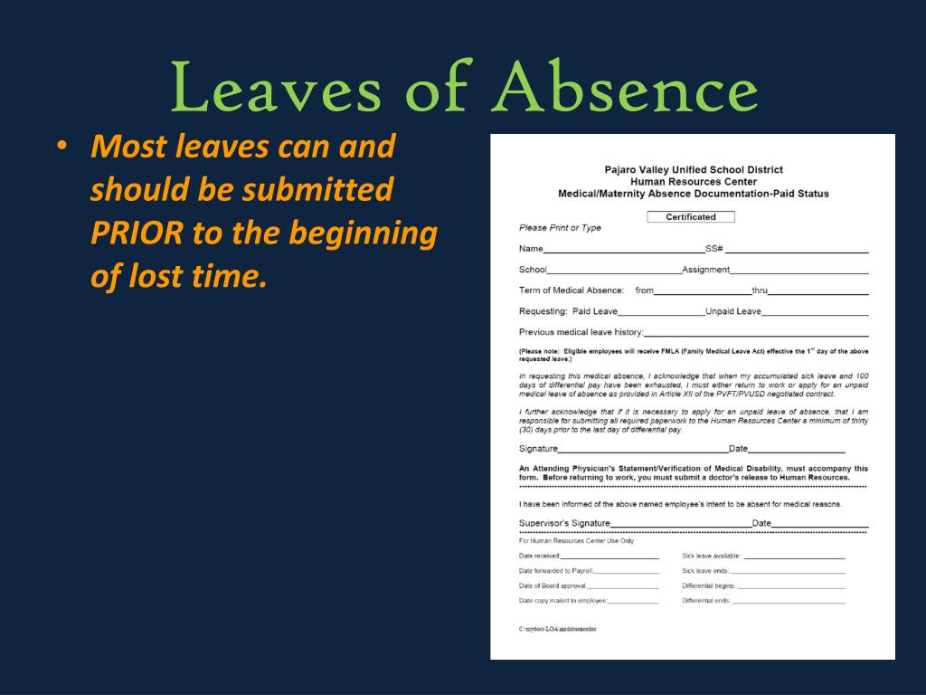 Leaves of Absence