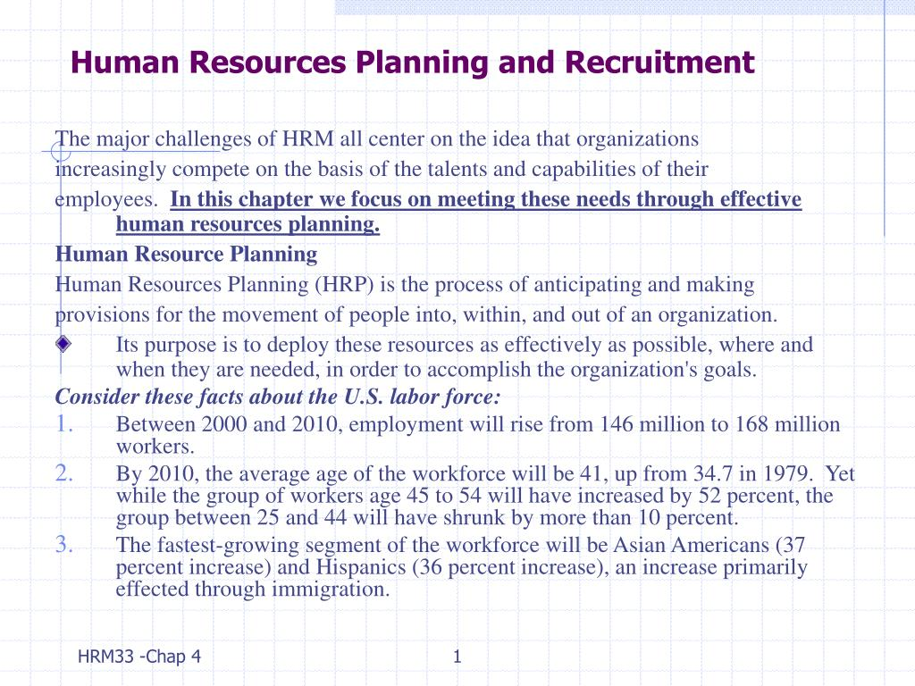 human resources planning and recruitment l.
