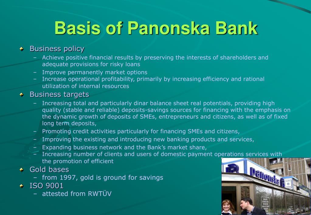 Basis of Panonska Bank