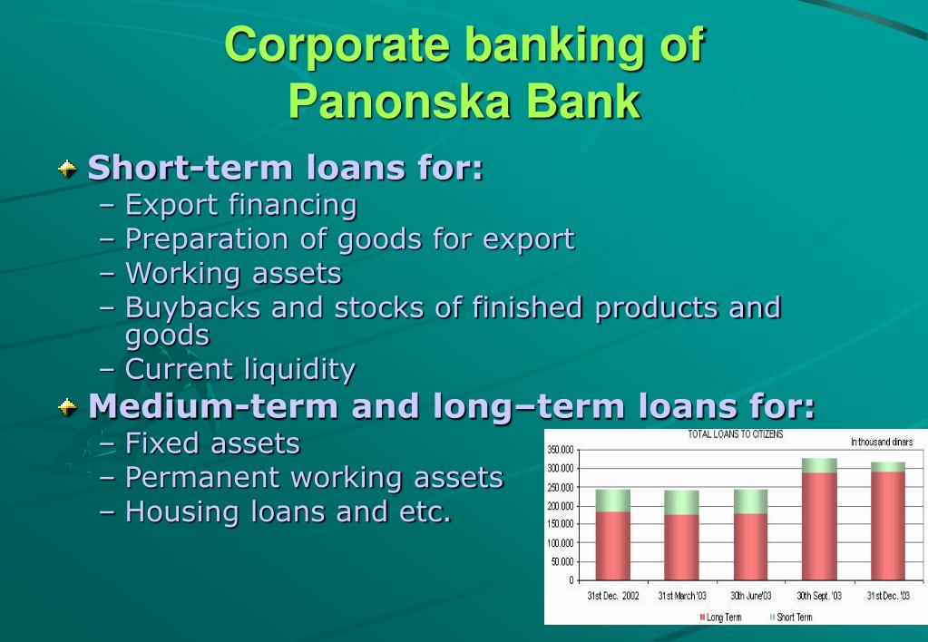 Corporate banking of