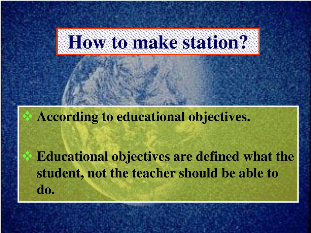 How to make station?