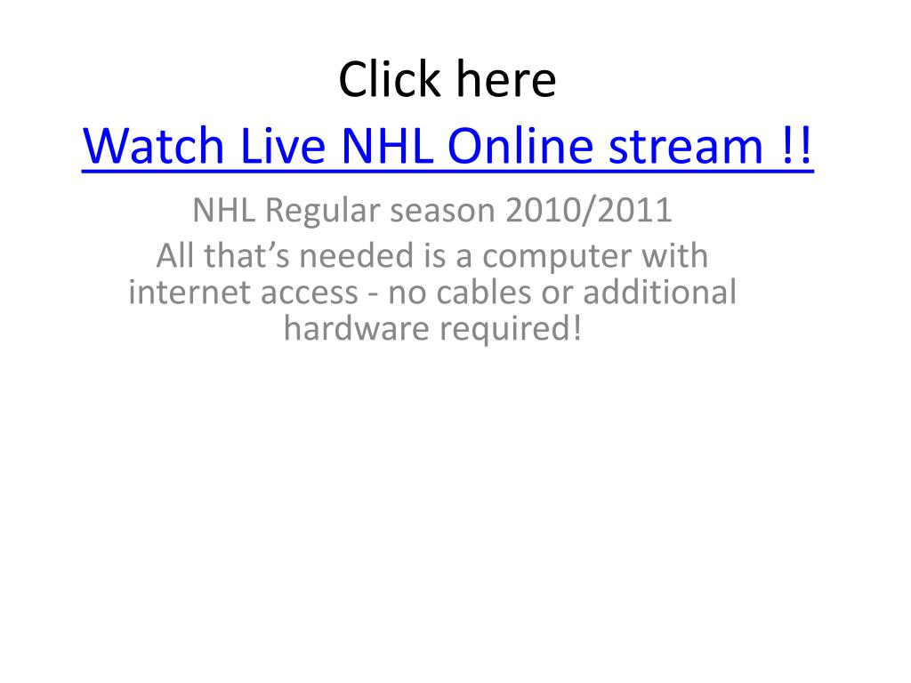 click here watch live nhl online stream l.